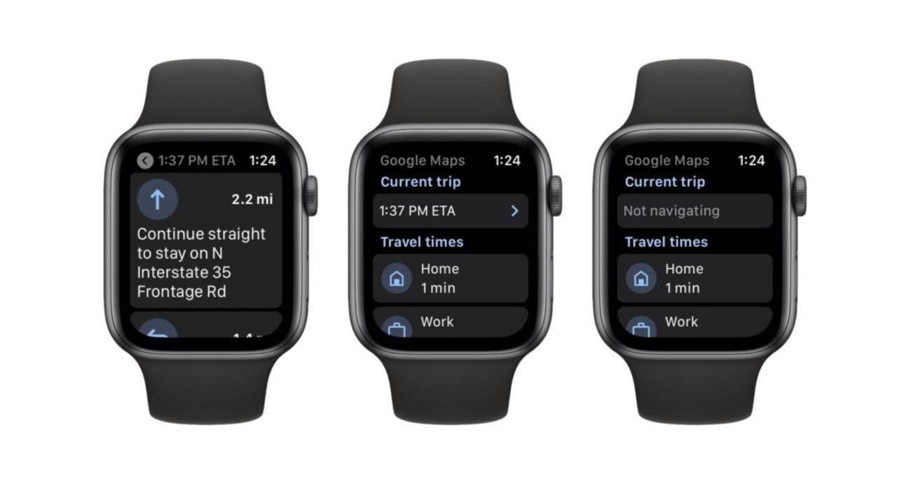 Mapy Google wracają do Apple Watch polecane, ciekawostki mapy google na apple watch, Mapy Google, Apple Watch  Po ogłoszeniu tej wiadomości w sierpniu Google uaktualniło właśnie swoje mapy i dodało od nich wsparcie dla systemu watchOS. GoogleMaps