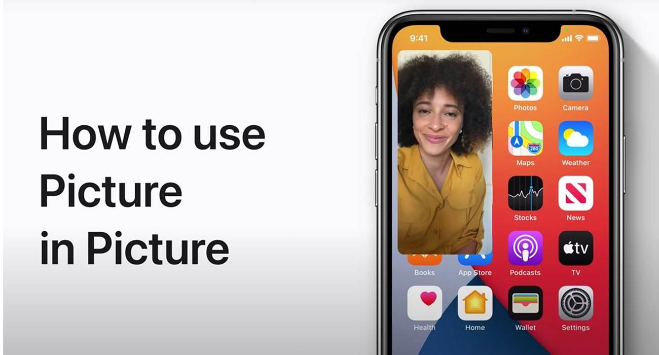 Apple pokazuje jak działa i jak korzystać z funkcji obraz w obrazie w iOS 14 / iPadOS 14 polecane, ciekawostki Wideo, pip, Obraz w obrazie, jak korzystac z obraz w obrazie, iPhone, iPadOS 14, iPad, iOS 14  Apple zamieściło na swoim kanale YouTube nowe wideo pokazujące jak korzystać z funkcji obraz w obrazie. Bardzo przydatna rzecz dla wszystkich z iOS 14 i iPadOS 14. PIP