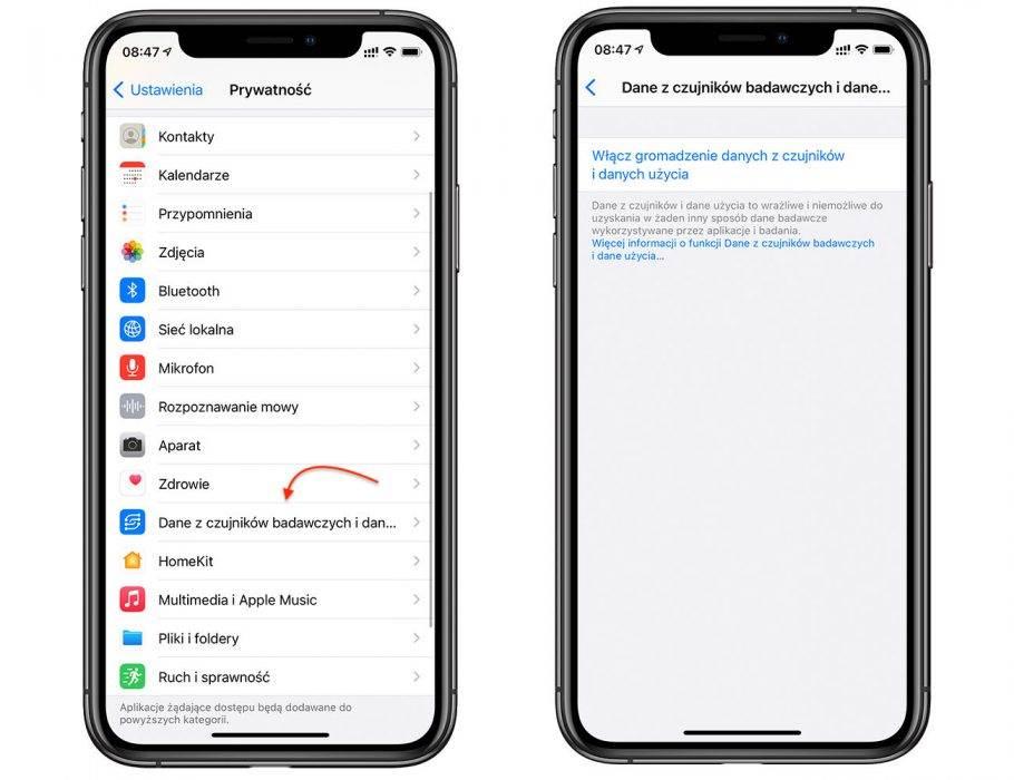 iOS 14 - tryb badawczy polecane, ciekawostki tryb badawczy, iOS 14, Apple  Jedną z nowości w iOS 14 o którym jeszcze nie pisaliśmy jest tryb badawczy. Co to takiego i jak go włączyć? Już wyjaśniamy. iOS14 dane z czujnikow 2 1 910x700