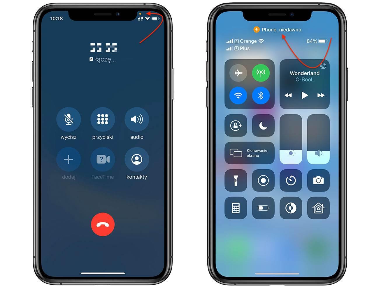 Co oznacza zielona i pomarańczowa kropka na pasku stanu w iPhone i iPad z iOS 14 i iPadOS 14 polecane, ciekawostki zielona kropka w iOS 14, zielona kropka, pomaranczowa kropka, iPhone, iPadOS14  Czy zauważyłeś w iPhone, iPad zieloną lub pomarańczową kropkę w prawym górnym rogu ekranu po aktualizacji do iOS 14 iPadOS 14? Oto co to jest? Już wyjaśniamy! iOS14 kropka 1