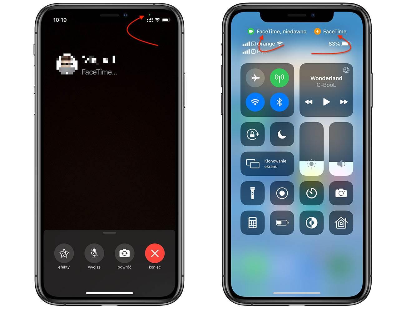 Co oznacza zielona i pomarańczowa kropka na pasku stanu w iPhone i iPad z iOS 14 i iPadOS 14 polecane, ciekawostki zielona kropka w iOS 14, zielona kropka, pomaranczowa kropka, iPhone, iPadOS14  Czy zauważyłeś w iPhone, iPad zieloną lub pomarańczową kropkę w prawym górnym rogu ekranu po aktualizacji do iOS 14 iPadOS 14? Oto co to jest? Już wyjaśniamy! iOS14 kropka 2