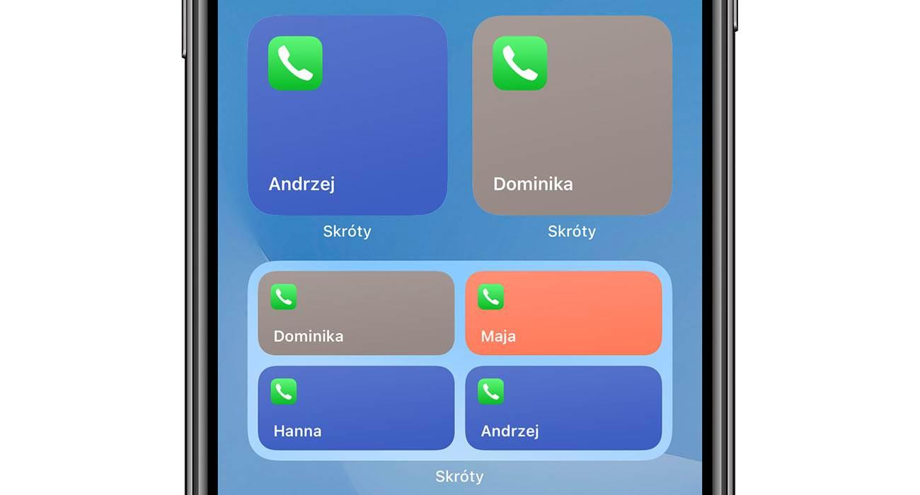 iOS 14 - przywracamy widget ulubione kontakty polecane, ciekawostki widżet, Widget, ulubione kontakty w widgecie, ulubione kontakty, iPhone, iOS 14  Mobilny system operacyjny iOS 14 dostępny jest dla wszystkich od niemal tygodnia. Aktualizacja zawiera szereg przydatnych innowacji, ale zniknęły również niektóre przydatne funkcje znane z iOS 13. kontakty 3