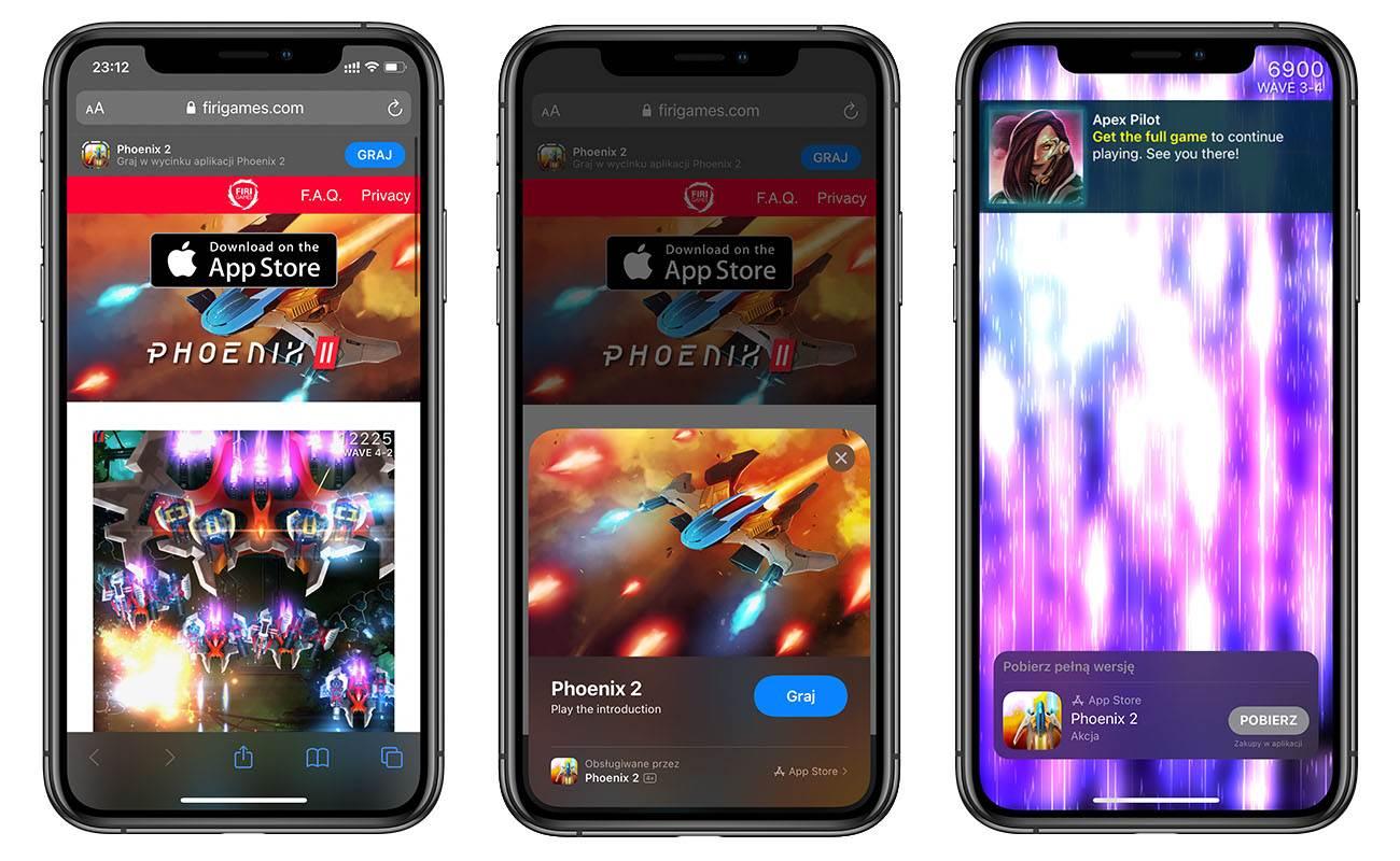 Sprawdź jak działa App Clips i zagraj w demo gry Phoenix 2 polecane, ciekawostki wycinki aplikacji, Phoenix 2, iOS 14, App Clips  Jedną z nowości w iOS 14 jest App Clips. Jest to funkcja, która umożliwia przetestowanie gry bez konieczności jest instalacji z App Store. ohoenix2 1