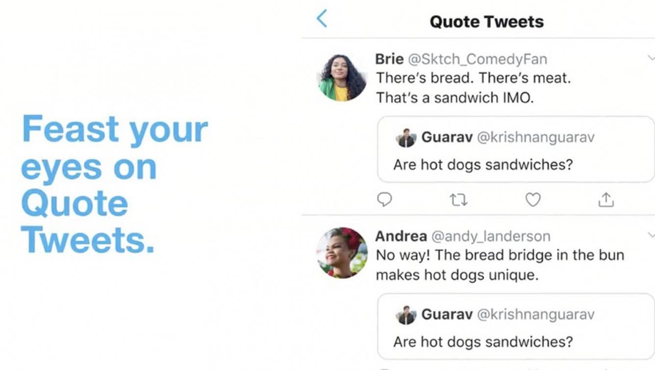 Twitter wprowadza licznik cytowanych retweet?ów polecane, ciekawostki Wideo, Twitter, Quote Tweets, licznik reetwitow z komenatarzem, cytowany retweet  Usługa mikroblogowania Twitter oficjalnie uruchomiła nową funkcję o nazwie Quote Tweets, która ma na celu ułatwienie wyszukiwania retweetów z komentarzami. twitterquotetweets