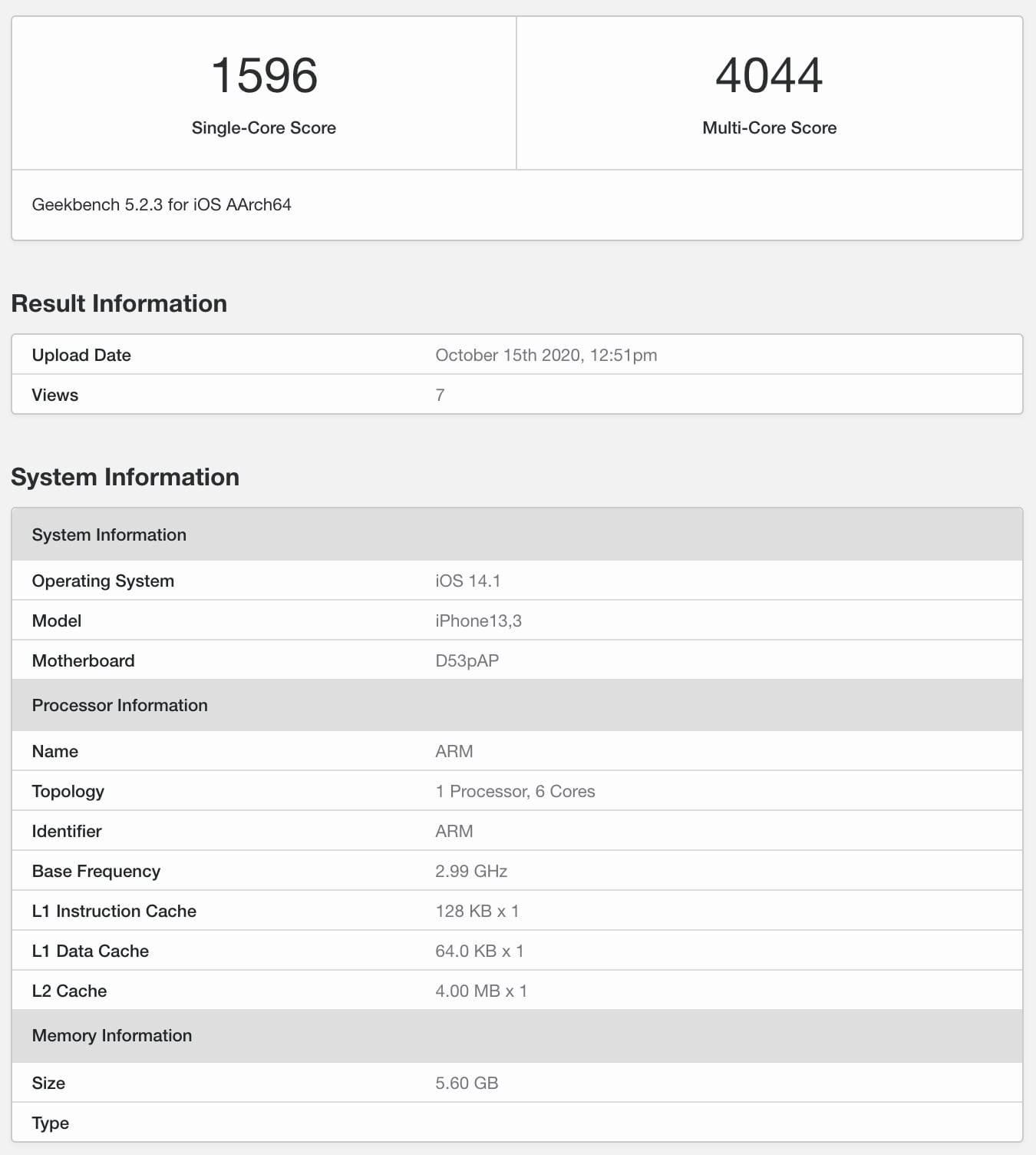 iPhone 12 Pro przetestowany w Geekbench. Jest o 25% mocniejszy niż iPhone 11 Pro polecane, ciekawostki iPhone 12 Pro test, iPhone 12 Pro, GeekBench, Apple  W sieć i pojawił się pierwszy test Geekbench nowego iPhone 12 Pro na którym widzimy, że urządzenie jest o o 25% mocniejsze niż iPhone 11 Pro i 11 Pro Max. A14 procesor