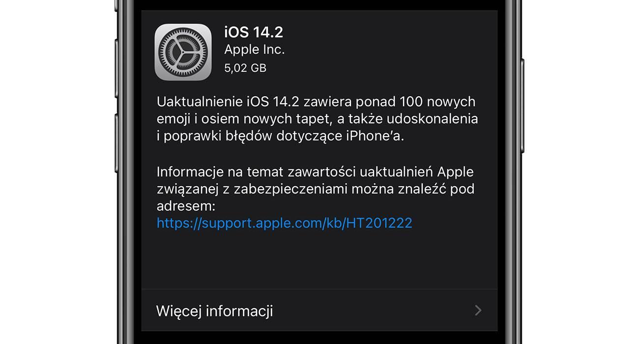 iOS 14.2 - oficjalna lista zmian polecane, ciekawostki zmiany, Nowości, lista zmian w iOS 14.2, lista zmian, iOS 14.2, co nowego w iOS 14.2, co nowego  Interesuje Cię co takiego zmieniło się w iOS 14.2? Jeśli tak to poniżej mamy dla Ciebie pełną i oficjalną listę zmian i nowości w najnowszym mobilnym systemie iOS 14.2. iOS14.2 GM