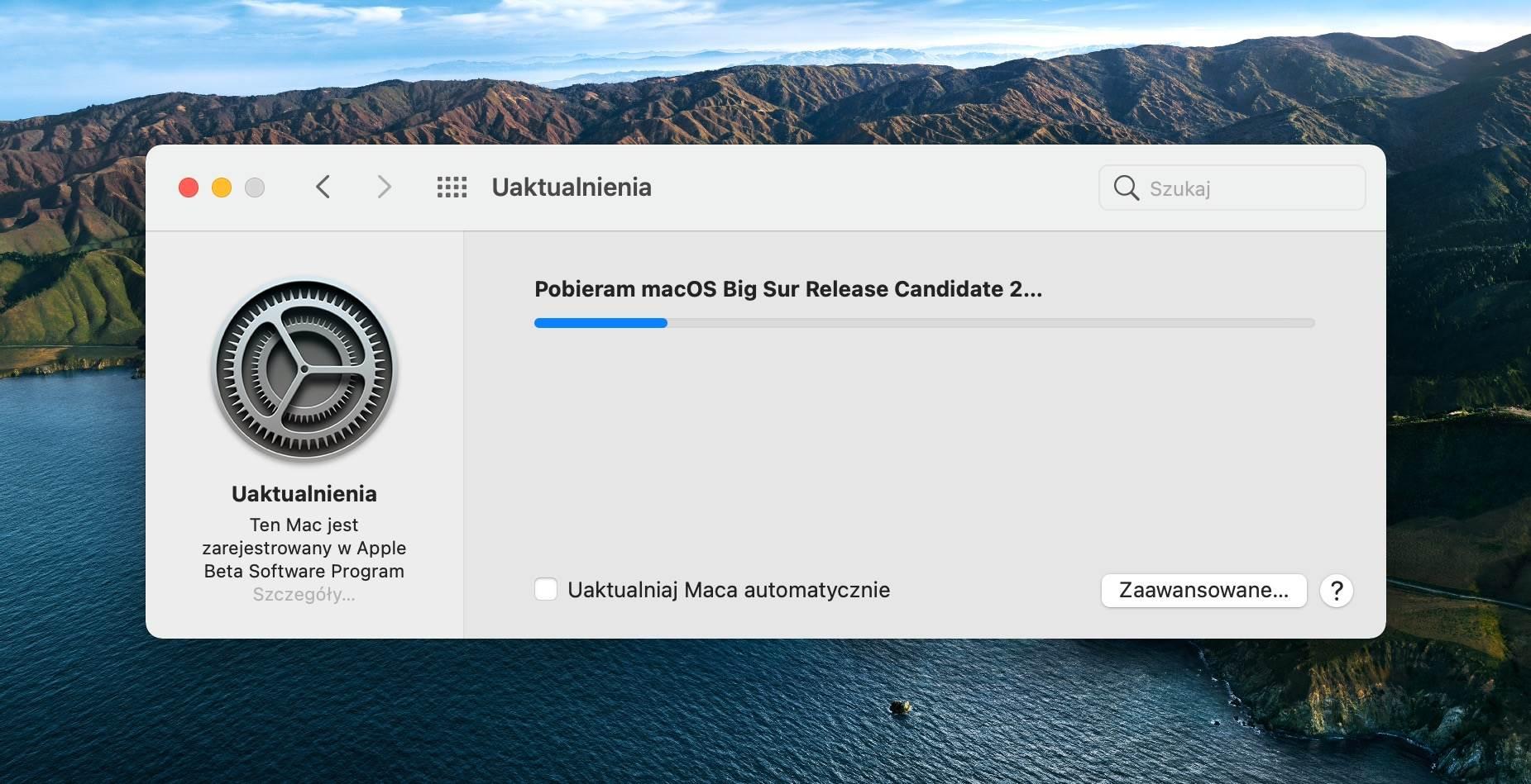 Apple wypuściło macOS Big Sur 11.0.1 Release Candidate 2 polecane, ciekawostki macOS Big Sur beta, macOS Big Sur 11.0.1 Release Candidate 2, lista nowosci, co nowego  W dniu wczorajszym niemal natychmiast po zakończeniu się konferencji ?One more thing?, Apple udostępniło programistom drugą betę macOS Big Sur 11.0.1. bigsur 2