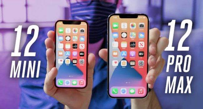 iPhone 12 mini i iPhone 12 Pro Max na pierwszych filmach polecane, ciekawostki Wideo, iPhone 12 Pro max na filmie, iPhone 12 Pro Max, iPhone 12 mini na filmie, iPhone 12 mini, Filmy, Film  Na kilka godzin przed startem przedsprzedaży iPhone 12 mini i iPhone 12 Pro Max, w sieci pojawiły się pierwsze filmy pokazujące małego i dużego iPhone?a 12.  iPhone12ProMax 650x350