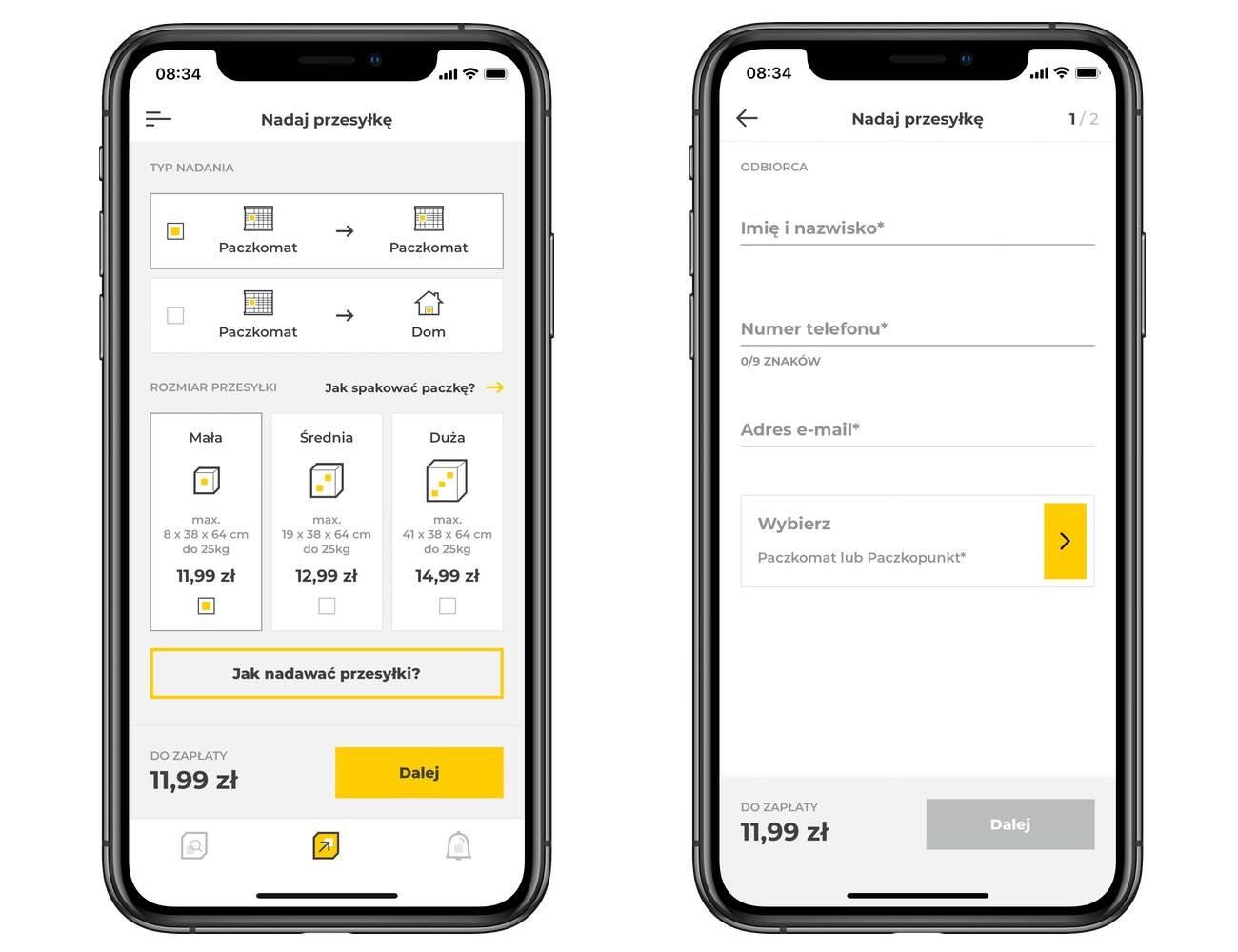 Nadawanie paczki bezpośrednio z aplikacji InPost Mobile polecane, ciekawostki nadanie paczki z aplikacji InPost, nadanie paczki bezpośrednio z aplikacji InPost, jak nadac paczke z iPhone, jak nadać paczkę z InPost, iNpost  Nowa wersja InPost na iOS wprowadza opcję nadania paczki bez etykiety bezpośrednio w aplikacji. inPost 1