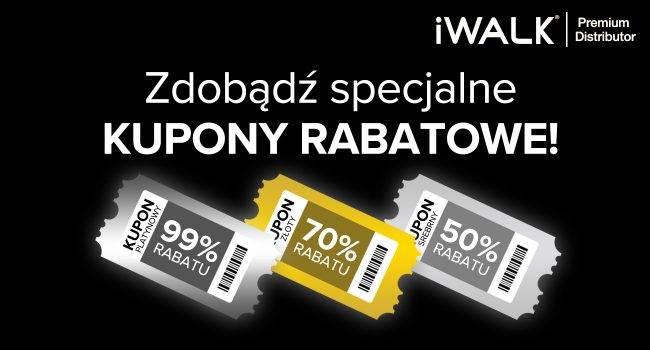 Zgarnij specjalne KUPONY RABATOWE -50%, -70%, -99% w sklepie iWALK Polska! polecane, ciekawostki Promocja, kupony iWalk, kupony, black friday  W dniach od 20 listopada do 30 listopada w sklepie iWALK.pl możecie zdobyć Specjalne KUPONY RABATOWE. Czy warto? TAK! Zobaczcie sami. kupon iwalk 650x350