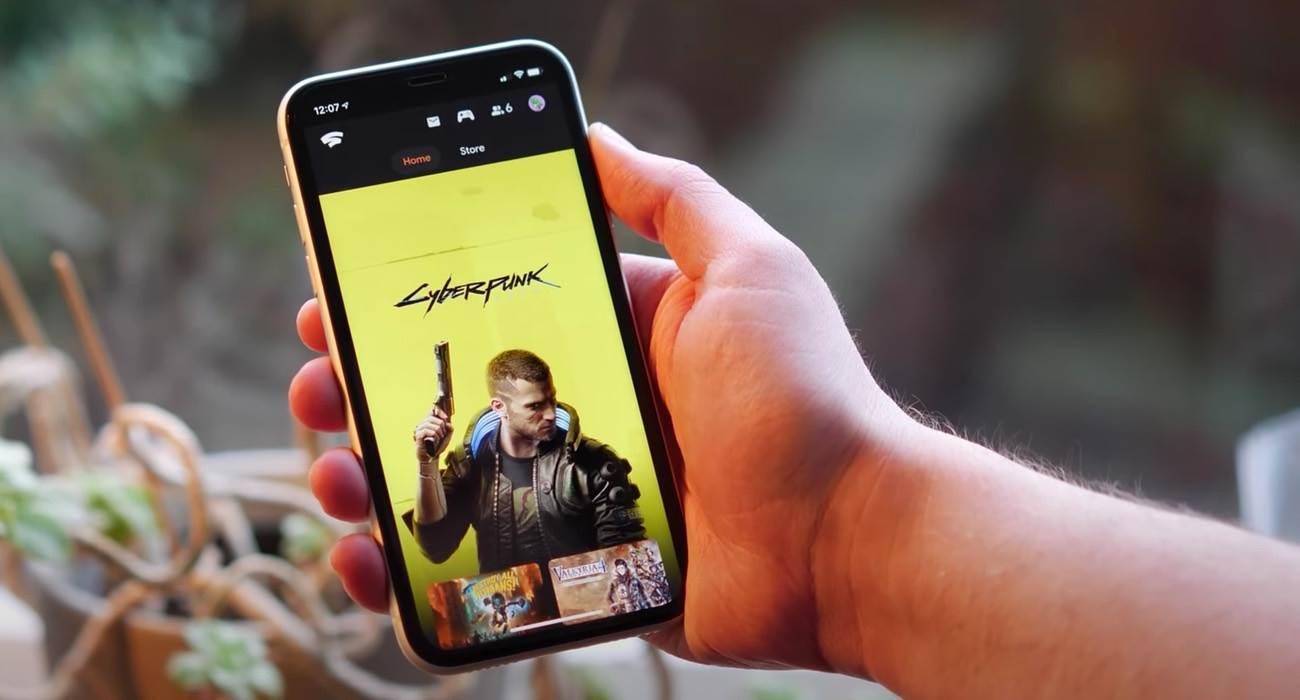 Gra Cyberpunk 2077 działa lepiej na iPhone i iPad niż na PlayStation 4 czy Xbox One ciekawostki Wideo, Stadia, iPhone, iPad, Cyberpunk 2077  Nowa gra CD Projekt Red Cyberpunk 2077, która dostępna jest w Google Stadia działa lepiej na iPhone i iPad niż na PlayStation 4 czy Xbox One. CyberPunk