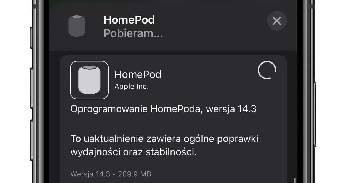 Apple udostępnia nowe oprogramowanie 14.3 dla HomePod i HomePod mini polecane, ciekawostki homepodos 14.3, homepodos, homepod mini, HomePod, audioOS, Aktualizacja, 14.3  Ten wpis ucieszy wszystkich właścicieli HomePod i HomePod mini. Kilkanaście minut Apple wypuściło nowe oprogramowanie dla swoich inteligentnych głośników. HomePod 1