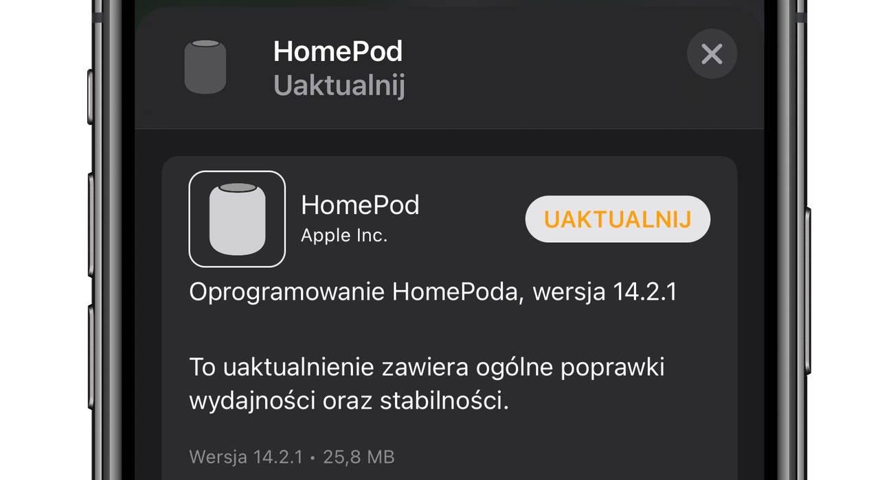 Apple udostępnia nowe oprogramowanie 14.2.1 dla HomePod i HomePod mini polecane, ciekawostki homepodos, homepod mini, HomePod 14.2.1, HomePod, audioOS, Aktualizacja, 14.2.1  Ten wpis ucieszy wszystkich właścicieli HomePod i HomePod mini. Właśnie Apple wypuściło nowe oprogramowanie dla swoich inteligentnych głośników. HomePod