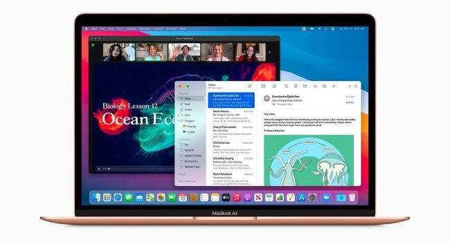 macOS Big Sur 11.1 umożliwia uruchamianie aplikacji iOS na pełnym ekranie na Makach z M1 polecane, ciekawostki macOS Big Sur 11.1, iOS, Apple  Na początku tygodnia firma Apple wypuściła macOS Big Sur 11.1  z nowymi funkcjami, w tym obsługą AirPods Max, etykietami prywatności w Mac App Store, dedykowaną kartą Apple TV + w aplikacji TV oraz możliwością edycji zdjęć ProRAW w aplikacji Zdjęcia. bigsur 650x350