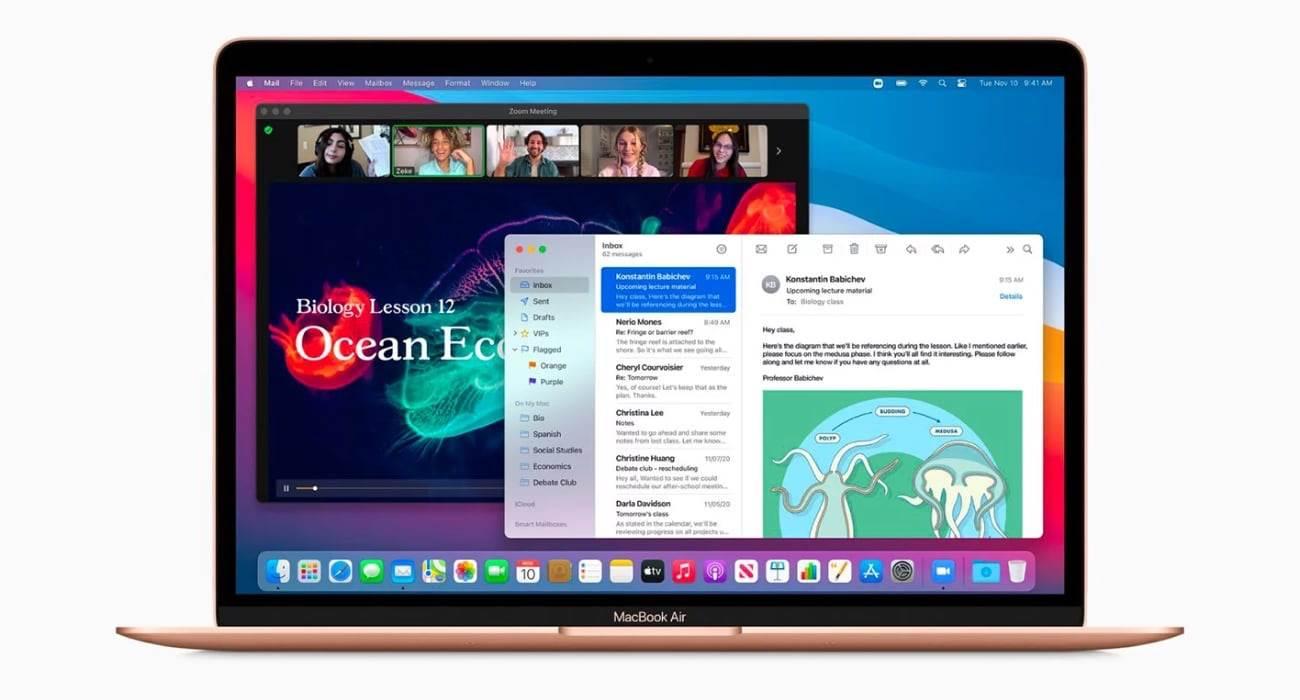 macOS Big Sur 11.1 umożliwia uruchamianie aplikacji iOS na pełnym ekranie na Makach z M1 polecane, ciekawostki macOS Big Sur 11.1, iOS, Apple  Na początku tygodnia firma Apple wypuściła macOS Big Sur 11.1  z nowymi funkcjami, w tym obsługą AirPods Max, etykietami prywatności w Mac App Store, dedykowaną kartą Apple TV + w aplikacji TV oraz możliwością edycji zdjęć ProRAW w aplikacji Zdjęcia. bigsur