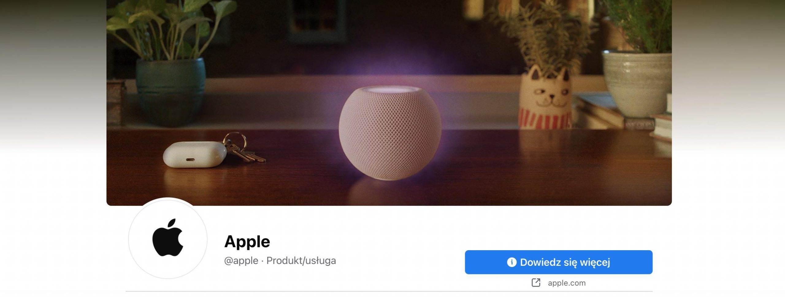 Facebook pozbawił Apple niebieskiej plakietki weryfikacyjnej polecane, ciekawostki weryfikacja, Facebook, Apple  Sieć społecznościowa Facebook usunęła niebieską plakietkę weryfikacyjną z oficjalnego profilu Apple w odpowiedzi na nadchodzące zmiany w prywatności iPhone'a. facebook apple scaled