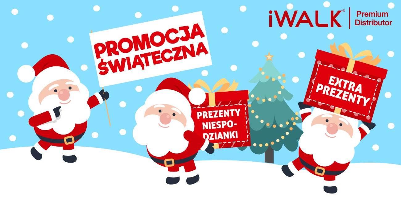 Promocja Świąteczna w iWALK Polska! Zgarnij Extra Prezenty + Kupony Rabatowe! ciekawostki prezent, pormocje, iwalk  Święta Bożego Narodzenia to okres, w którym szukamy prezentów dla siebie i najbliższych. Jeżeli jeszcze nie kupiliście prezentów lub nie macie pomysłu co kupić, to koniecznie musicie zobaczyć Świąteczną Akcję Promocyjną w iWALK Polska! iwalk promo