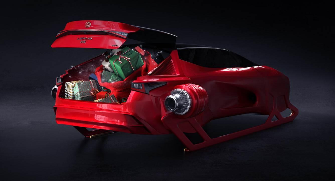 Lexus zaprezentował futurystyczną koncepcję sań Mikołaja polecane, ciekawostki sanie Mikołaja, Lexus, koncept, HX Sleigh  Japoński producent samochodów Lexus zaprezentował koncepcję sań Świętego Mikołaja o nazwie HX Sleigh. Jak Wam się podoba? lexus hx sleigh concept 1b