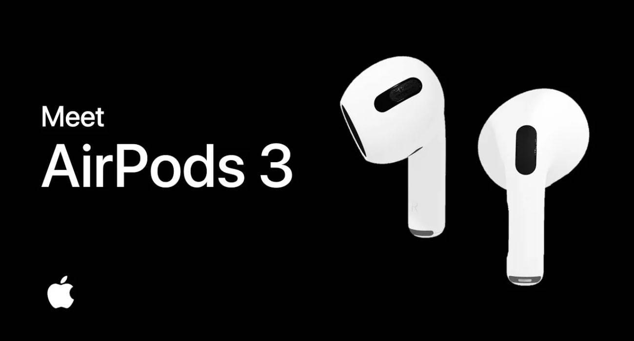 AirPods 3 - nowa koncepcja przedstawia słuchawki z obsługą MagSafe polecane, ciekawostki Wideo, Apple, AirPods 3  W iPhone 12 nie pojawiła się wcześniej zapowiadania opcja odwrotnego ładowania nowych urządzeń, jak wielu się spodziewało, ale może się to zmienić w iPhone 13. AirPods3