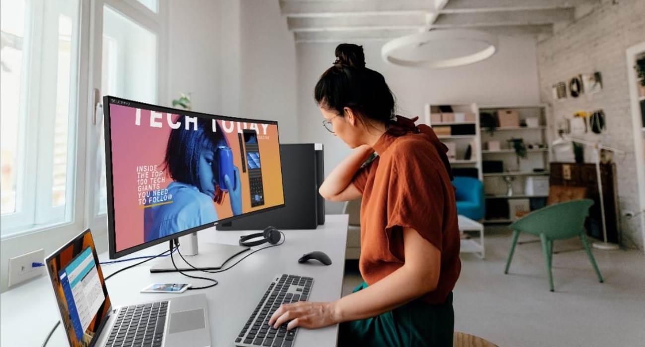 Firma Dell przedstawia swój pierwszy 40-calowy zakrzywiony monitor 5K polecane, ciekawostki monitor 5K, Dell, cena, 40-calowy monitor  Firma Dell zaprezentowała dziś, 6 stycznia, pierwszy 40-calowy, ultraszerokokątny, zakrzywiony monitor 5K dla projektantów i twórców grafiki. Dell 4