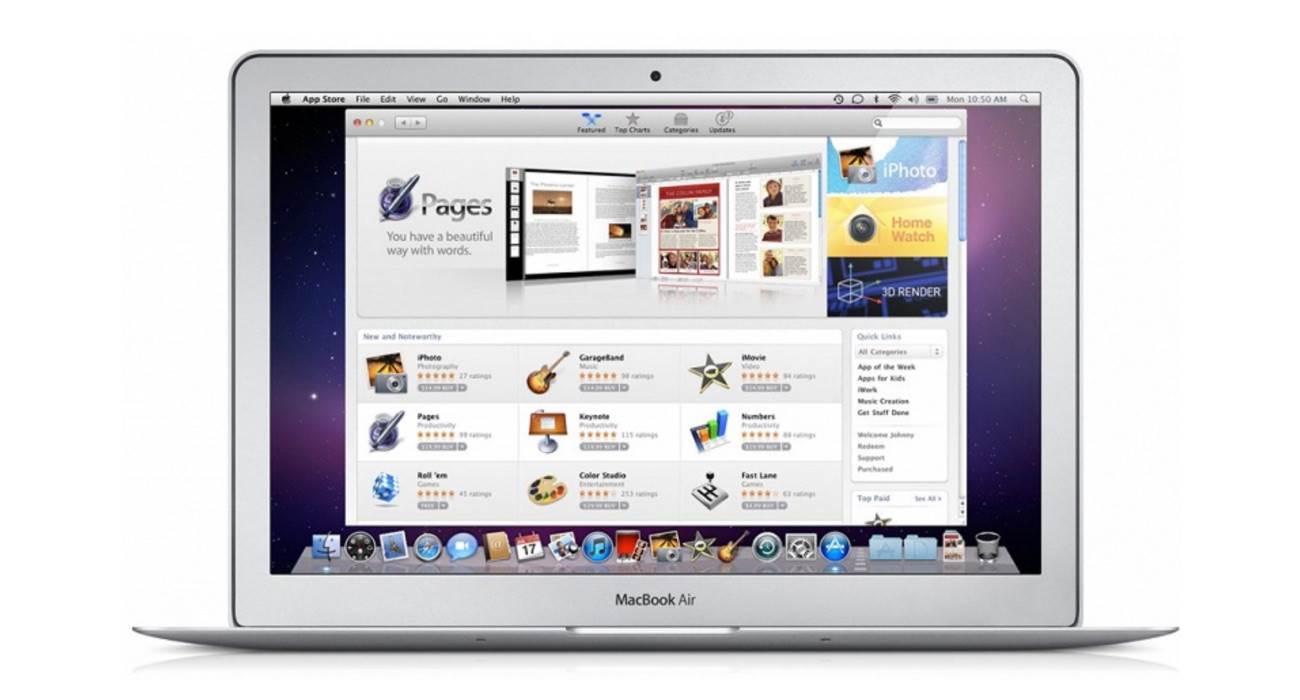 Apple świętuje 10-lecie sklepu Mac App Store ciekawostki Mac App Store, Apple  W przeciwieństwie do mobilnego App Store, który zadebiutował na iPhone w lipcu 2008 roku, App Store na komputerach Mac pojawił się dopiero 6 stycznia 2011 roku. MacAppSttore
