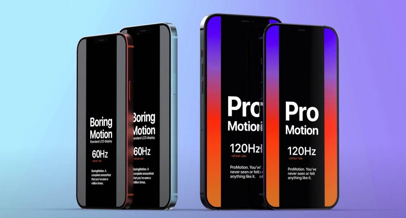 iPhone 13 Pro / 13 Pro Max wreszcie z ekranem 120 Hz ciekawostki LTPO, iPhone 13 Pro max, iPhone 13 Pro, Apple, 120 hz  Według ET News, w tym roku Apple wypuści cztery modele iPhone 13, ale tylko dwa najdroższe modele będą miały wyświetlacz 120 Hz. iPhone13 120Hz 1