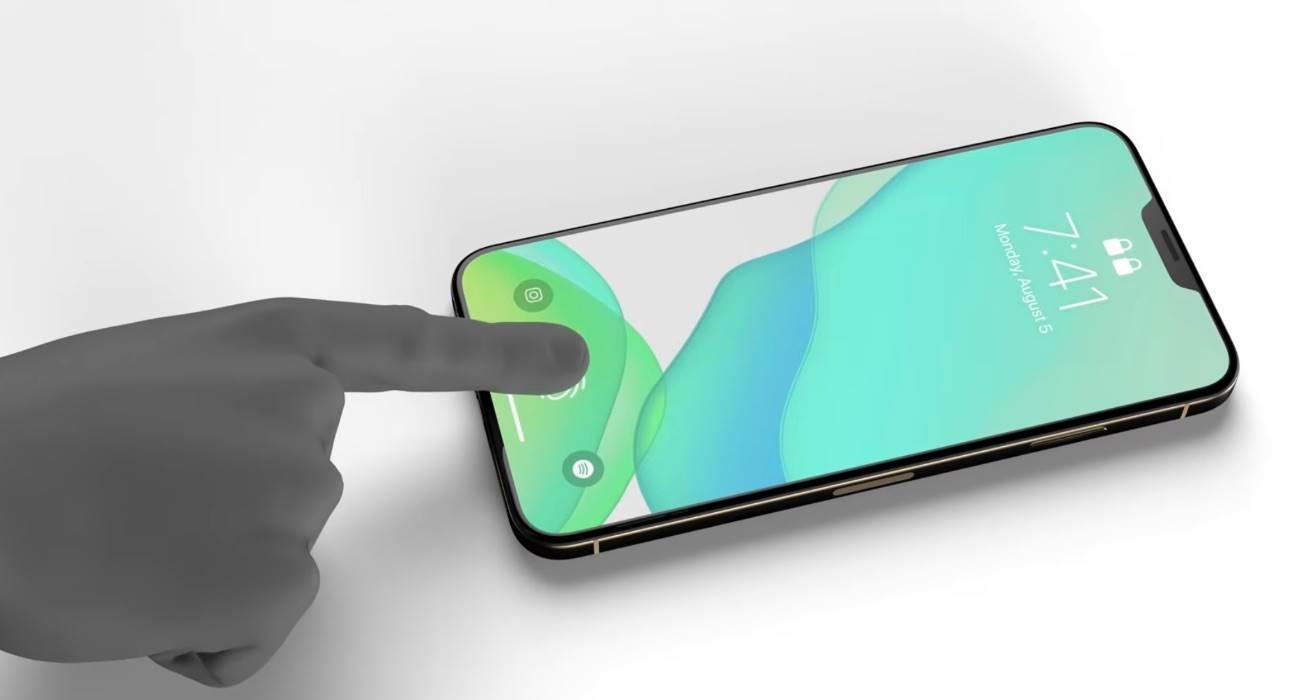 Apple iPhone 13 będzie wyposażony w Face ID i Touch ID polecane, ciekawostki touch id w ekranie, iPhone 13, iPhone 12s, Apple  Od dawna krążą plotki, że kolejne modele iPhone 13 będą wyposażone w dwa biometryczne systemy uwierzytelniania: Face ID i Touch ID. iPhone13 2