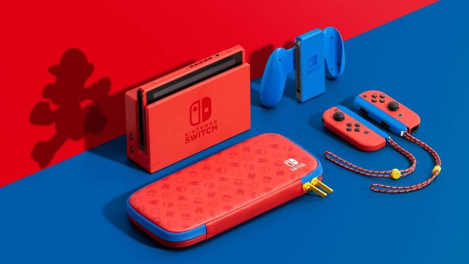 Nintendo wypuściło specjalną wersję konsoli Switch w kolorze czerwonym i niebieskim na cześć Mario ciekawostki Nintendo Switch Super Mario Bros, Nintendo, Mario Bros  Japońska firma Nintendo ogłosiła limitowaną edycję konsoli Switch Mario Red & Blue Edition, aby uczcić 35.rocznicę powstania Super Mario Bros. nintendo2