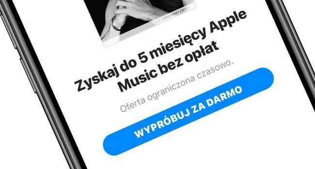 Uzyskaj nawet 5 miesięcy bezpłatnego dostępu do usługi Apple Music polecane, ciekawostki Shazam, Apple music, Apple, 5 miesięcy za darmo  Podobnie jak w zeszłym roku, Apple uruchomiło fantastyczną promocję dla wszystkich użytkowników iOS, oferując do 5 miesięcy bezpłatnego dostępu do Apple Music. AppleMusic 650x350