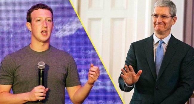 Mark Zuckerberg zamierza ?skrzywdzić? Apple polecane, ciekawostki facebook konflikt z Apple, Facebook, Apple  Założyciel Facebooka Mark Zuckerberg powiedział podczas wewnętrznego spotkania, że ??firma musi ?skrzywdzić? Apple z powodu nieustannej krytyki prywatności sieci społecznościowej. facebook 650x350