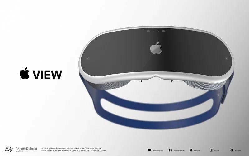 Tak mogą wyglądać gogle Apple do rzeczywistości mieszanej polecane, ciekawostki okulary AR, gogle AR od Apple, gogle Apple  Projektant Antonio De Rosa stworzył wysokiej jakości rendery pokazujące możliwy wygląd gogli Apple do rzeczywistości mieszanej.  gogle Apple 3