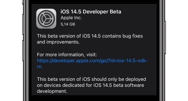 Apple udostępniło deweloperom pierwsze bety iOS 14.5 / iPadOS 14.5 / watchOS 7.4 i tvOS 14.5 polecane, ciekawostki watchOS 7.4, nowosci, lista zmian, iOS 14.5 beta, iOS 14.5, beta, Apple  Dość niespodziewanie dosłownie kilka minut temu Apple udostępniło deweloperom pierwsze bety systemów iOS 14.5 / iPadOS 14.5 / watchOS 7.4 i tvOS 14.5. Co zostało zmienione? iOS14.5 650x350