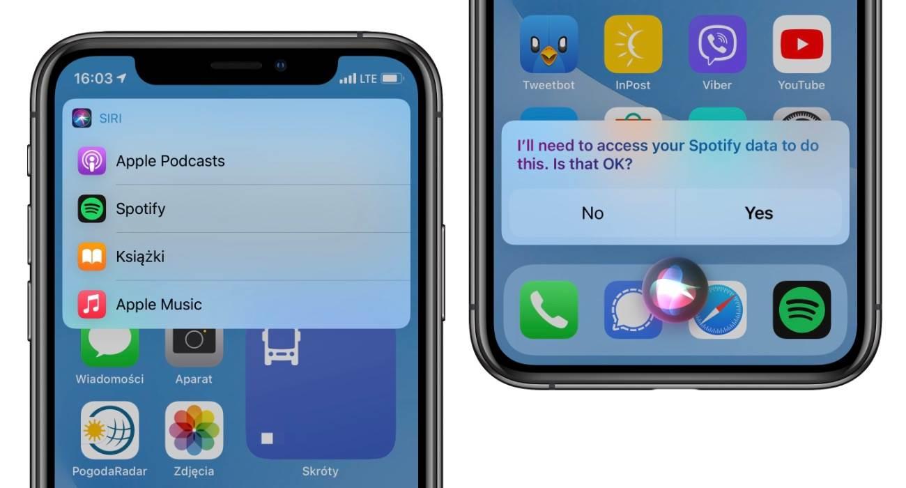 Apple wyjaśnia, że iOS 14.5 nie pozwala ustawić ?domyślnego? odtwarzacza muzyki polecane, ciekawostki iOS 14.5, domyślna usługa muzyczna w iOS 14.5  W pierwszej becie iOS 14.5 firma Apple dodała sprytną opcję, która jak wszyscy myśleli pozwala na zmianę domyślnego odtwarzacza muzyki w iPhone. Jak się okazuje tak nie jest. iOS14.5 Spotify 2