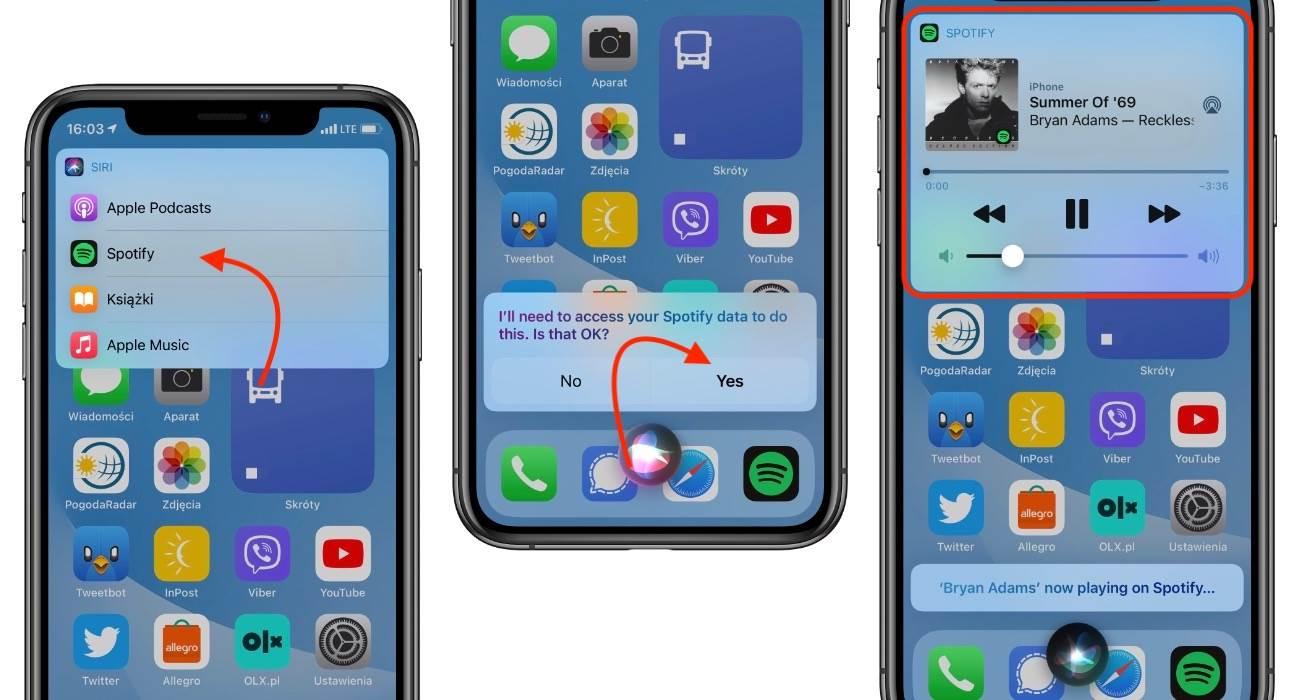 iOS 14.5 - jak ustawić Spotify jako domyślny odtwarzacz muzyki w iPhone polecane, ciekawostki Spotify, jak ustawić Spotify jako domyślny odtwarzacz muzyki, iPhone, iOS 14.5, domyślna usługa strumieniowania muzyki w iOS 14.5, Apple  W zeszłym tygodniu Apple wypuściło pierwszą wersję beta iOS 14.5 i iPadOS 14.5. Oprócz funkcji o których pisaliśmy tutaj, Apple dodało także możliwość ustawienia dowolnego odtwarzacza muzyki podczas korzystania z Siri. iOS14.5 Spotify
