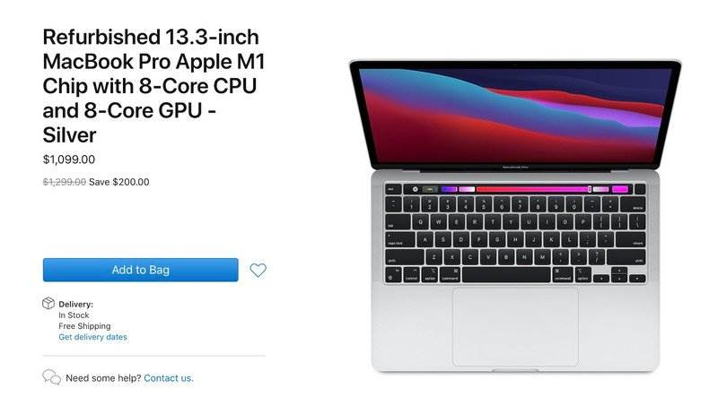 Odnowiony MacBook Pro z czipem M1 dostępny w amerykańskim Apple Store Online polecane, ciekawostki odnowiony MacBook z M1, macbook z procesorem M1, MacBook, Apple  Firma Apple rozpoczęła sprzedaż oficjalnie regenerowanych 13-calowych MacBooków Pro z czipem M1 w swoim amerykańskim sklepie internetowym. odnlwiony macbook m1