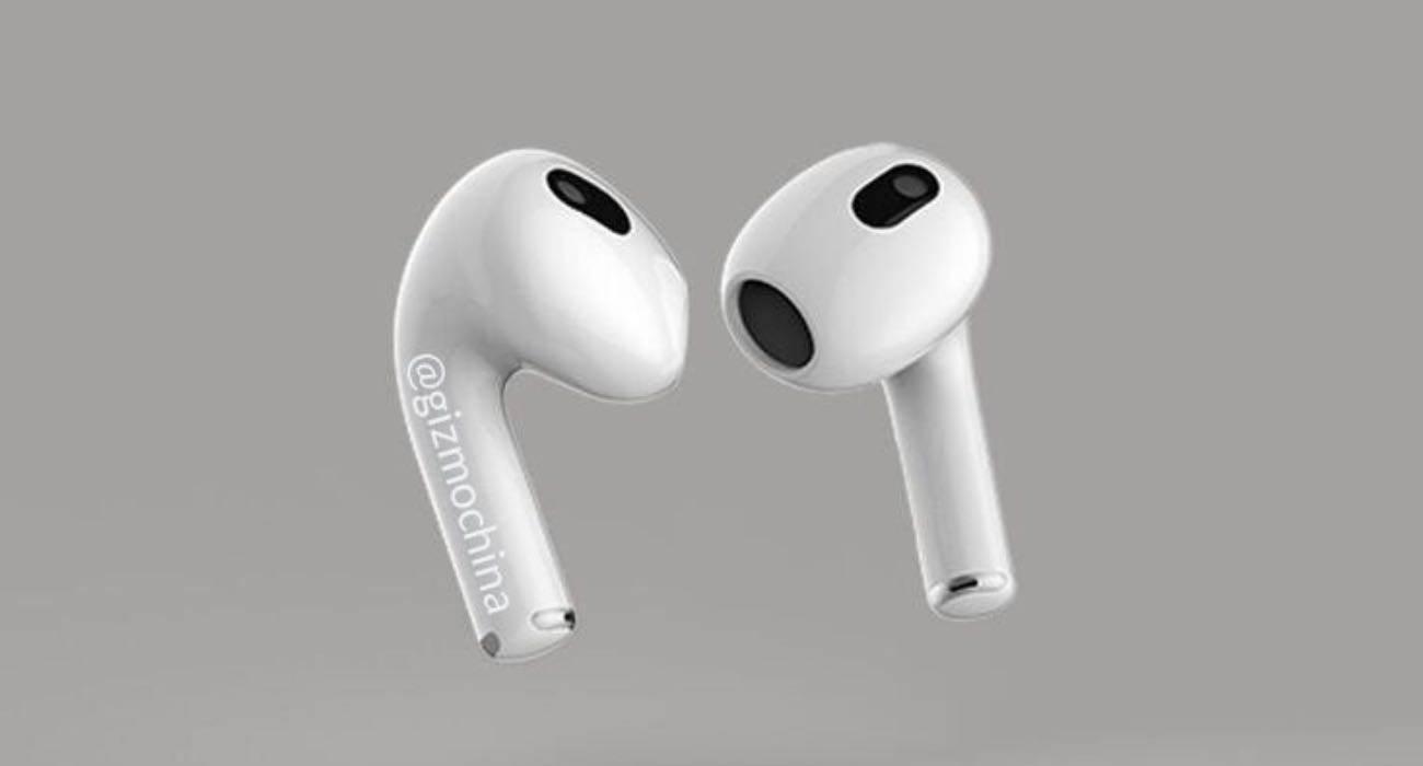 Tak będą wyglądać najnowsze Apple AirPods 3 polecane, ciekawostki prezentacja AirPods 3, Apple AirPods 3, AirPods 3  W sieci pojawiły się rendery AirPods 3, czyli najnowszych bezprzewodowych słuchawek Apple, które mają zostać zaprezentowane na specjalnej konferencji już 23 marca. AirPods3