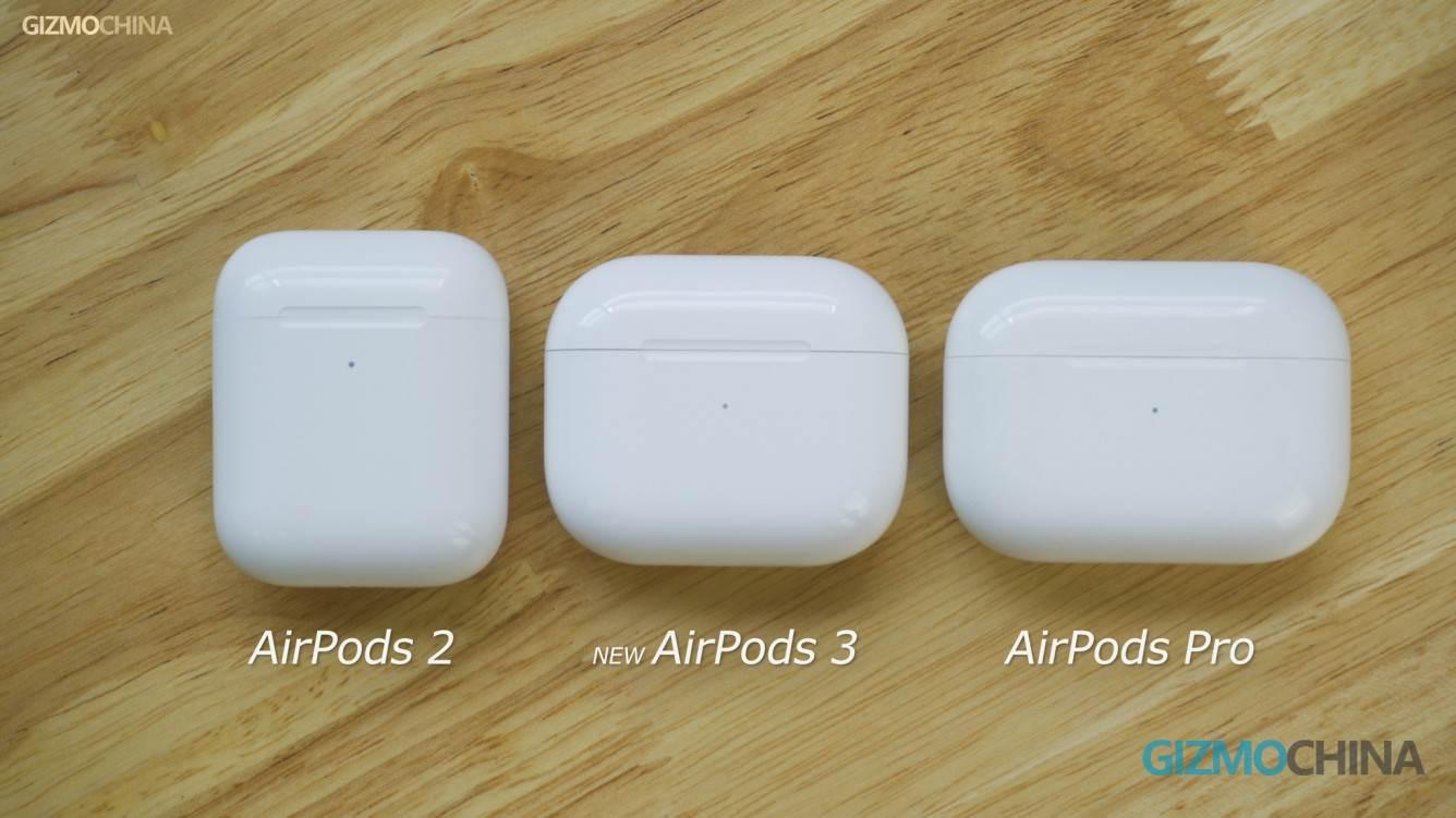 Chińczycy sprzedają już klony AirPods 3, które nie zostały jeszcze oficjalnie wydane polecane, ciekawostki Wideo, klony AirPods 3, chińskie klony AirPods 3, Apple, AirPods 3  Dziennikarze GizmoChina otrzymali już klony AirPods trzeciej generacji od jednego z chińskich producentów gadżetów. Zobaczcie je z bliska. Airpods3 2 1