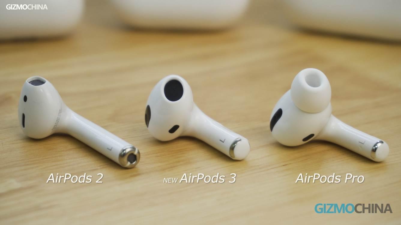 Chińczycy sprzedają już klony AirPods 3, które nie zostały jeszcze oficjalnie wydane polecane, ciekawostki Wideo, klony AirPods 3, chińskie klony AirPods 3, Apple, AirPods 3  Dziennikarze GizmoChina otrzymali już klony AirPods trzeciej generacji od jednego z chińskich producentów gadżetów. Zobaczcie je z bliska. Airpods3 3 1