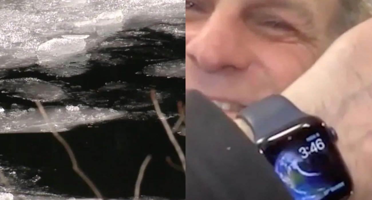 Apple Watch pomógł uratować mężczyznę, pod którym załamał się lód polecane, ciekawostki emergency SOS, Apple Watch, Apple  Apple Watch kolejny raz pomógł uratować życie człowiek. Tym razem o wielkim szczęściu może mówić William Roger pod którym załamał się lód. AppleWatch lod
