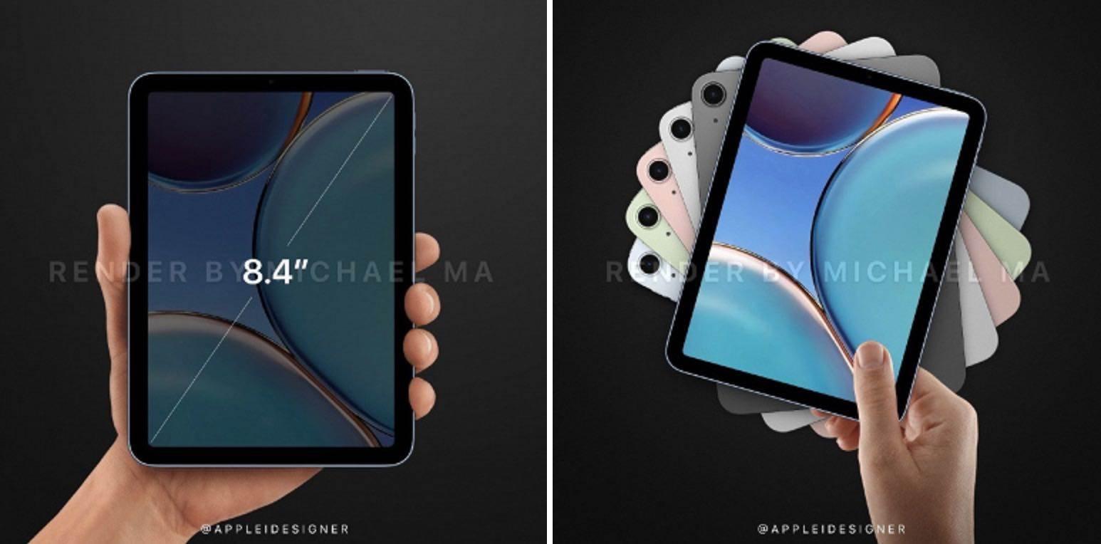 Apple iPad mini 6 (2021) na nowych renderach polecane, ciekawostki iPad mini 6.generacji, iPad mini 6, iPad mini 2021, Apple iPad mini 6  Prezentacja iPad mini 6 zbliża się wielkimi krokami. Nowe urządzenie zostanie zaprezentowane najprawdopodobniej 23 marca 2021 roku podczas specjalnej wirtualnej konferencji Apple. iPadmini6 2 1