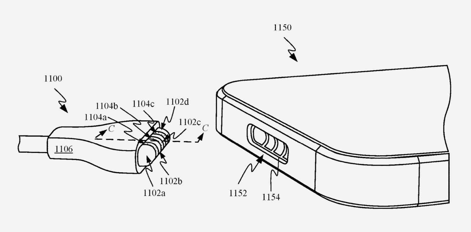 Firma Apple opatentowała magnetyczną ładowarkę MagSafe do iPhone polecane, ciekawostki złacze MagSafe, Patent, iPhone, Apple  Nowy patent firmy Apple, pokazuje nam i opisuje magnetyczne złącze ładowania MagSafe, które może wkrótce zastąpić Lightning. magsafe 1