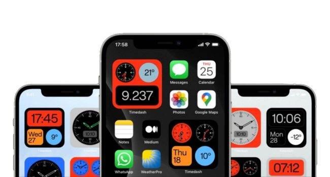 Timedash, czyli fantastyczne widżety z datą i godziną inspirowane zegarkami z lat 70 polecane, ciekawostki widgety, Timedash, iPadOS 14, iOS 14  Studio projektowe TIN stworzyło aplikację, która wprowadza mnóstwo widżetów z datą i godziną na iOS 14 i iPadOS 14. wigdety 650x350