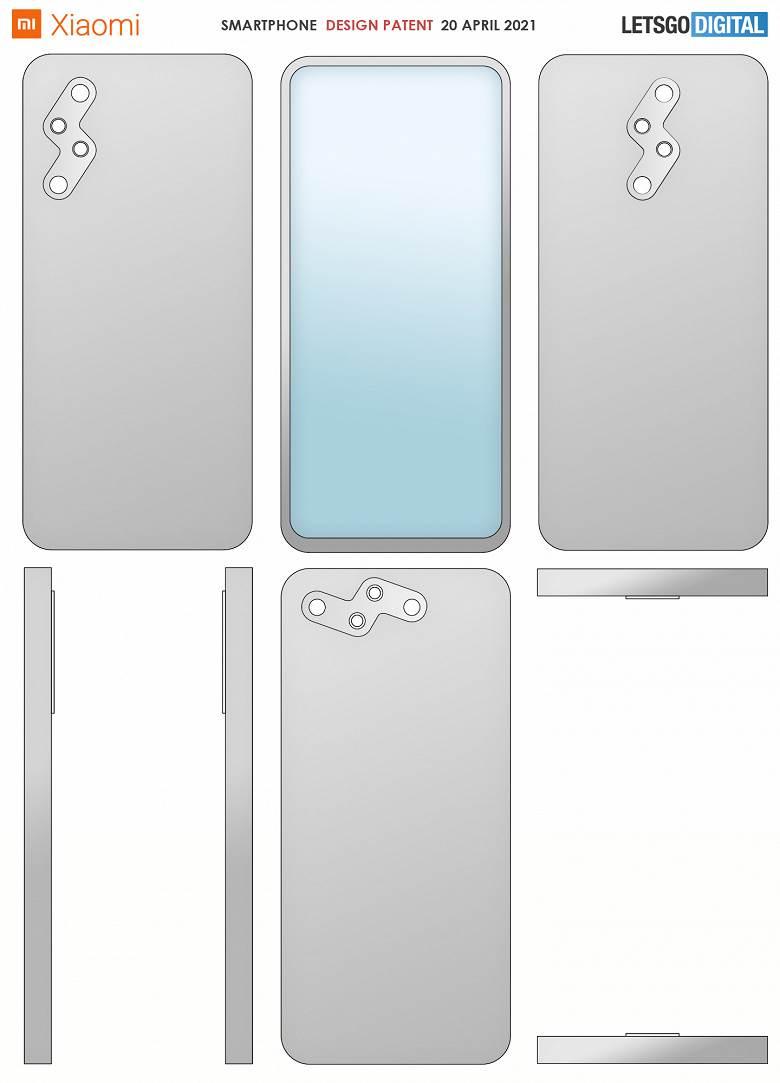 Xiaomi wymyśliło nowy układ tylnego aparatu w smartfonie. Jak Wam się podoba? polecane, ciekawostki Xiaomi, Patent, nowy układ kamer  Xiaomi zgłosiło nowy patent pod koniec października 2020 roku, a dokumentacja opublikowana dzisiaj, 20 kwietnia 2021 roku zawiera zdjęcia nowego smartfona, a także jego krótki opis. Xiaomi0patent