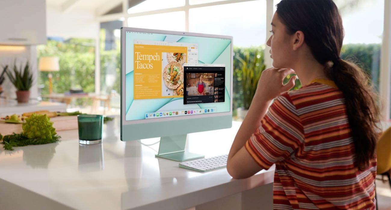 Apple przedstawia przeprojektowany 24-calowy iMac w nowych, odważnych kolorach polecane, ciekawostki nowy iMac, iMac 2021, Apple  Firma Apple przedstawiła dzisiaj przeprojektowany iMac z całkowicie nowym wyglądem. Nowy iMac jest dostępny w wielu kolorach i ma znacznie cieńszą konstrukcję niż wychodzące komputery iMac z procesorem Intel. iMac 2