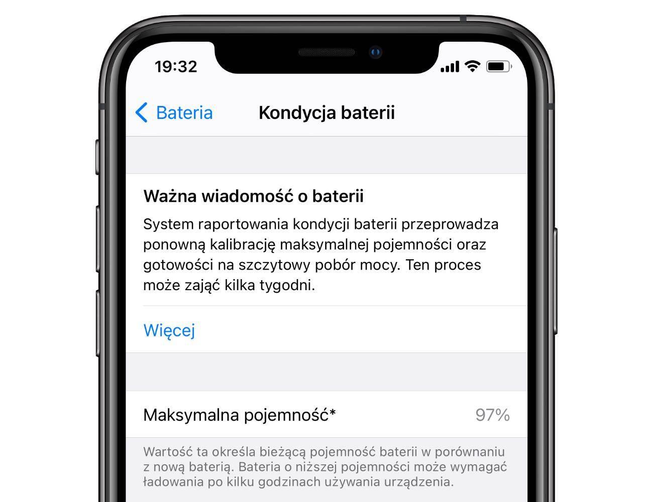 iOS 14.5 wprowadza narzędzie do ponownej kalibracji baterii polecane, ciekawostki rekalibracja baterii, kalibracja, iOS 14.5, bateria  Jak wiesz, wszystkie baterie litowe ulegają zużyciu i z biegiem czasu, stają się coraz mniej wydajne, ponieważ maksymalna pojemność energii zwykle spada i nie osiąga już 100%. iOS14.5 kondycja 1