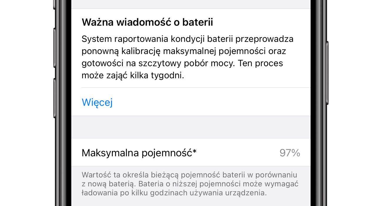 iOS 14.5 wprowadza narzędzie do ponownej kalibracji baterii polecane, ciekawostki rekalibracja baterii, kalibracja, iOS 14.5, bateria  Jak wiesz, wszystkie baterie litowe ulegają zużyciu i z biegiem czasu, stają się coraz mniej wydajne, ponieważ maksymalna pojemność energii zwykle spada i nie osiąga już 100%. iOS15.5 bateria