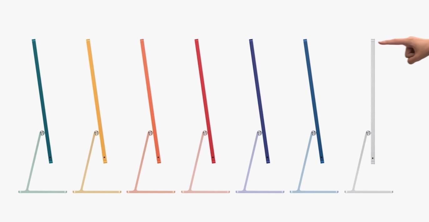 Apple przedstawia przeprojektowany 24-calowy iMac w nowych, odważnych kolorach polecane, ciekawostki nowy iMac, iMac 2021, Apple  Firma Apple przedstawiła dzisiaj przeprojektowany iMac z całkowicie nowym wyglądem. Nowy iMac jest dostępny w wielu kolorach i ma znacznie cieńszą konstrukcję niż wychodzące komputery iMac z procesorem Intel. imac 1