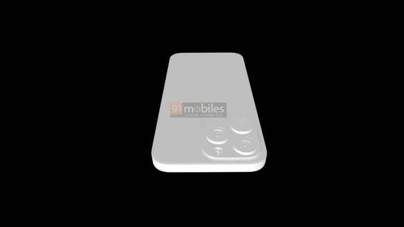 Aparaty w iPhone 13 Pro będą większe, a sam smartfon grubszy polecane, ciekawostki rendery, iPhone 13 Pro max, iPhone 13 Pro, Apple  Dziennikarze 91Mobiles otrzymali trójwymiarowy rysunek przyszłego iPhone 13 Pro, który ujawnia pewne zmiany w konstrukcji smartfona. iphone 13 pro render camera top