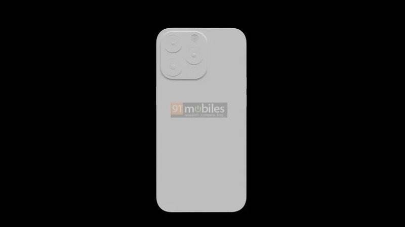 Aparaty w iPhone 13 Pro będą większe, a sam smartfon grubszy polecane, ciekawostki rendery, iPhone 13 Pro max, iPhone 13 Pro, Apple  Dziennikarze 91Mobiles otrzymali trójwymiarowy rysunek przyszłego iPhone 13 Pro, który ujawnia pewne zmiany w konstrukcji smartfona. iphone 13 pro render rear