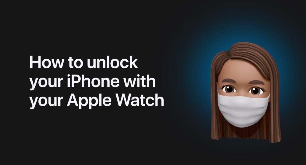 Jak odblokować iPhone?a za pomocą Apple Watch, gdy nosimy maskę ciekawostki Wideo, odblokowanie iPhone za pomoca Apple Watch, odblokowanie iPhone gdy mamy maskę, maska, jak odblokować iPhone za pomocą Apple Watch, iOS 14.5, Apple Watch  Jedną z najbardziej oczekiwanych innowacji w iOS 14.5 jest z pewnością automatyczne odblokowywanie iPhone'a za pomocą Apple Watch, gdy nosimy maskę.  odblokowanie iPhone